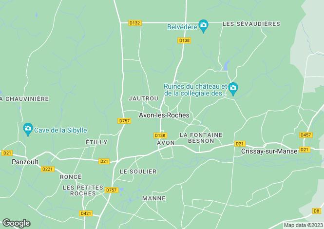 Map for avon-les-roches, Indre-et-Loire, France