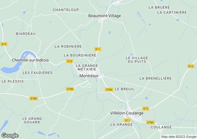 Map for montresor, Indre-et-Loire, France
