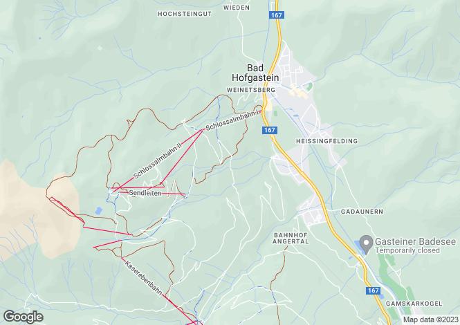Map for Bad Hofgastein, Pongau