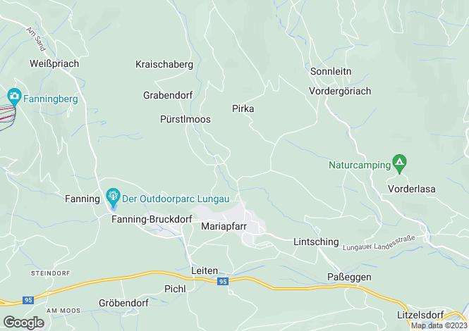Map for 5571 Mariapfarr