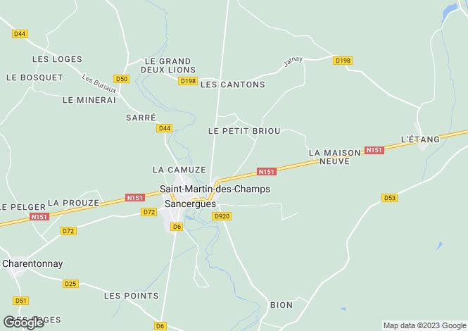 Map for Centre, Cher, Sancergues