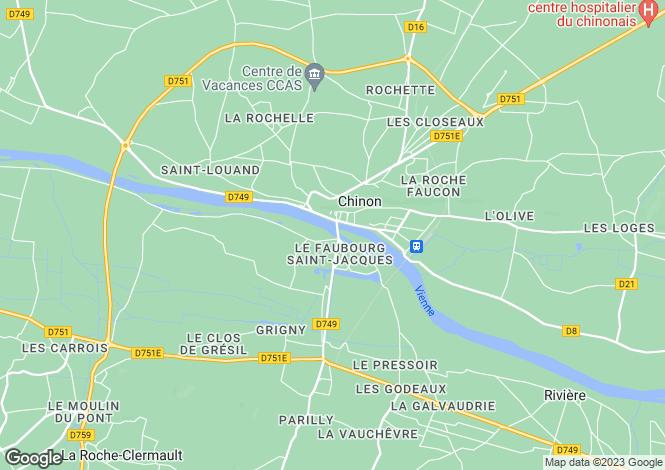 Map for Chinon, Indre-Et-Loire, Touraine