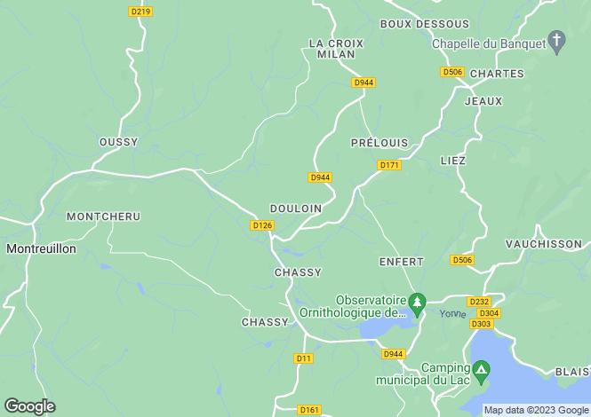 Map for Mhere, Bourgogne, 58140, France