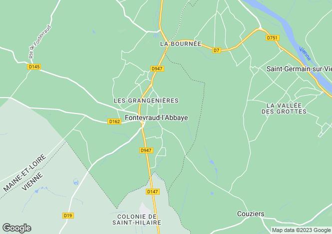 Map for Fontevraud-l`Abbaye, Maine-et-Loire, Pays de la Loire