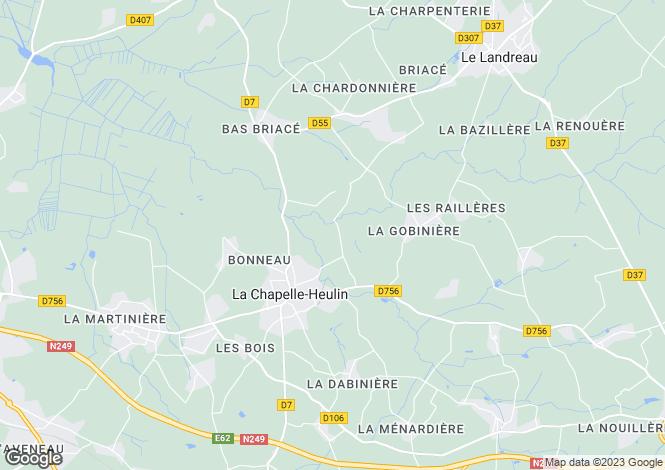 Map for la-chapelle-heulin, Loire-Atlantique, France