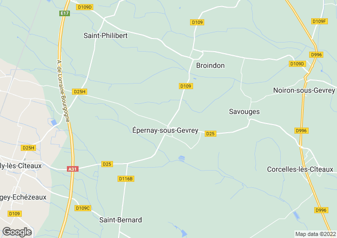 Map for Eperney-sous-Gevrey,  Cote d'Or