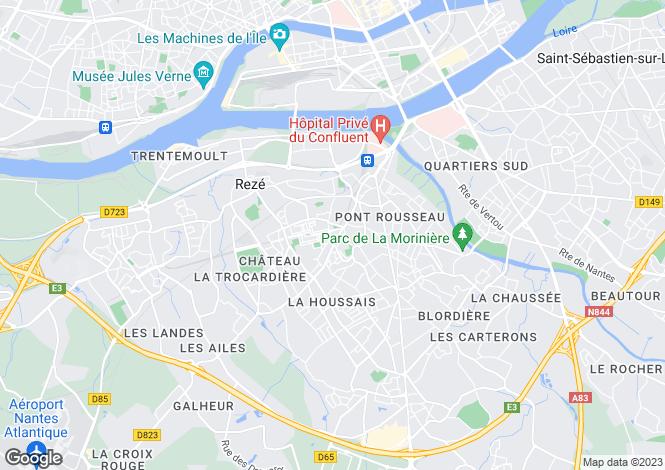 Map for reze, Loire-Atlantique, France