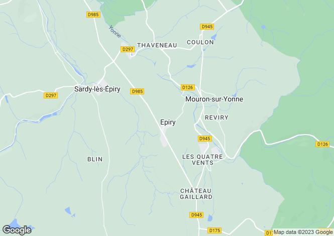 Map for EPIRY, NIEVRE