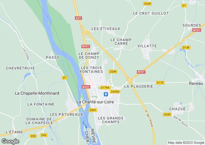 Map for la-charite-sur-loire, Nièvre, France