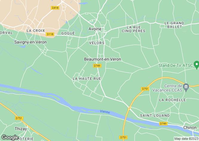 Map for beaumont-en-veron, Indre-et-Loire, France