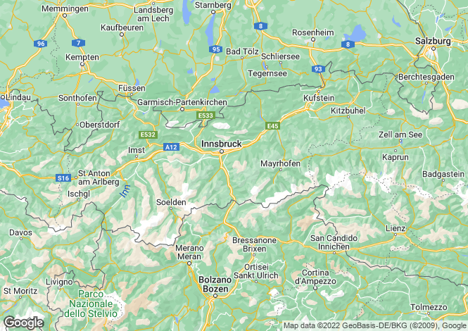 Map for Seefeld, Tyrol