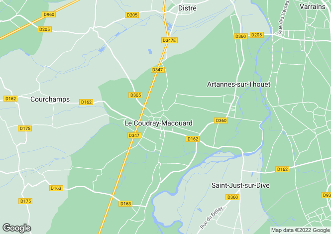 Map for LE COUDRAY MACOUARD, 49260, France