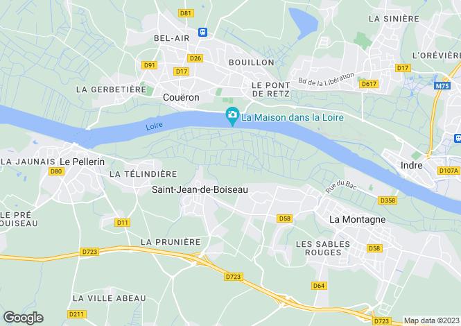 Map for Saint-Jean-de-Boiseau, 44640, France