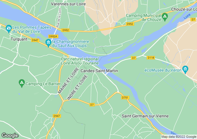 Map for CANDES ST MARTIN, 37500, France