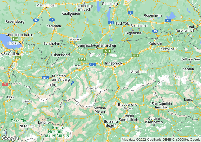 Map for Riezlern, Tyrol