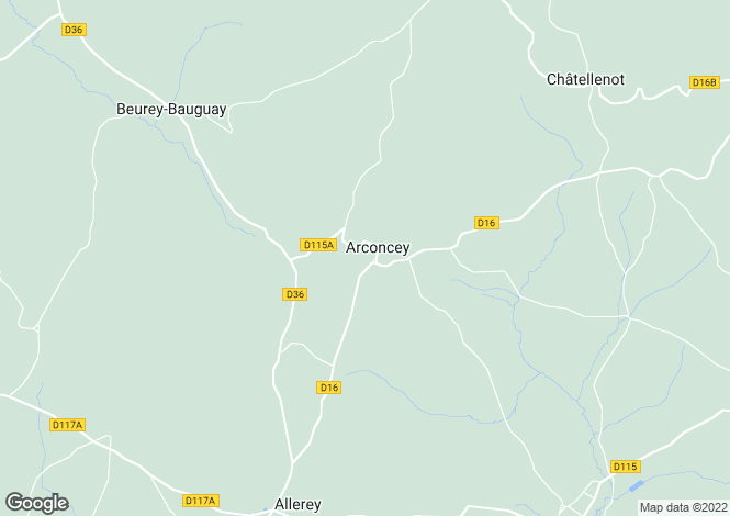 Map for Arconcey, Cote-d'Or
