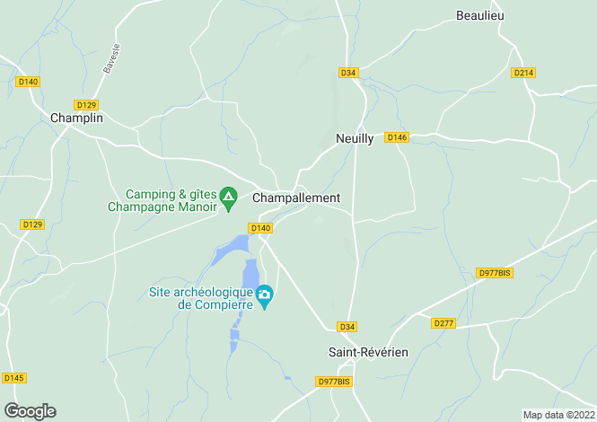 Map for Burgundy, Nièvre, Champallement