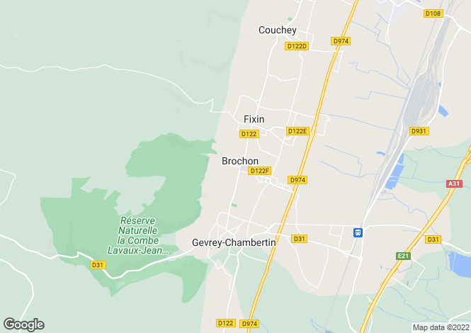Map for Burgundy, Côte-d`Or, Brochon