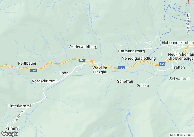 Map for Wald Im Pinzgau, Pinzgau, Salzburg