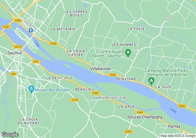 Map for VILLEBERNIER, 49400, France