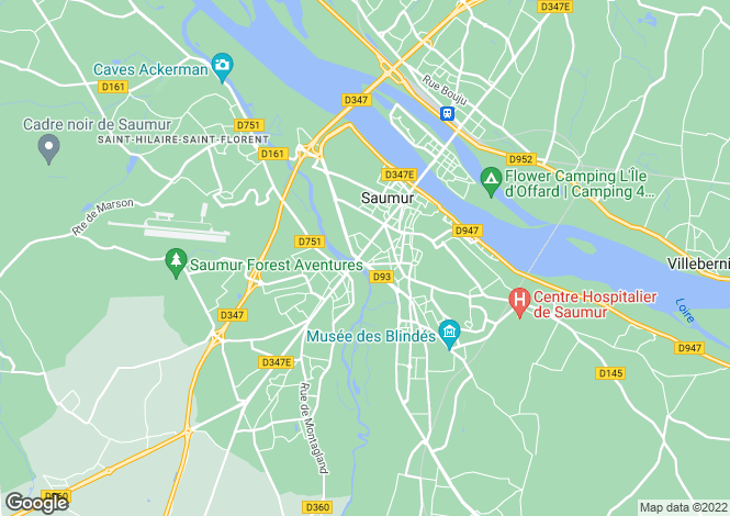 Map for Saumur,France