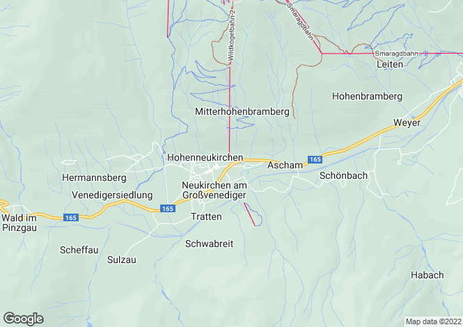 Map for 5741, Neukirchen am Großvenediger, Austria