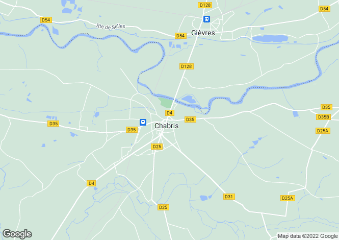 Map for Centre, Indre, Chabris