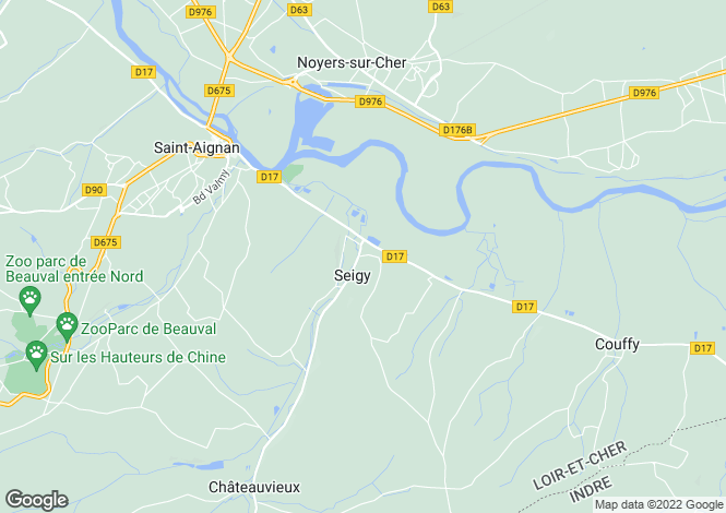 Map for seigy, Loir-et-Cher, France