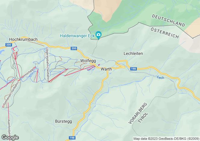 Map for Warth, Bregenz, Vorarlberg