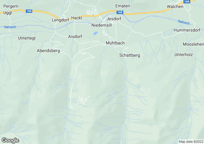 Map for 5722, Niedernsill, Austria