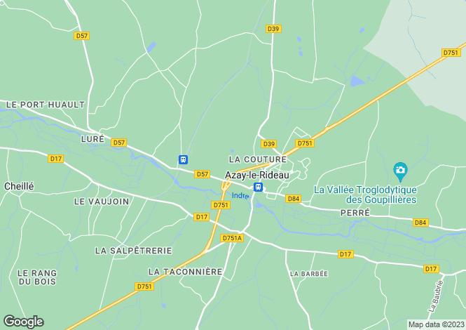 Map for azay-le-rideau, Indre-et-Loire, France