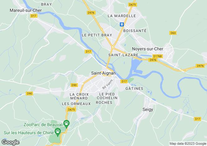 Map for Centre, Loir-et-Cher, Chatillon Sur Cher