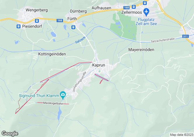 Map for Residence Orgler, Kaprun, Austria