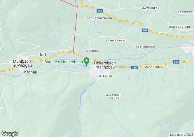 Map for Hollersbach, Salzburg