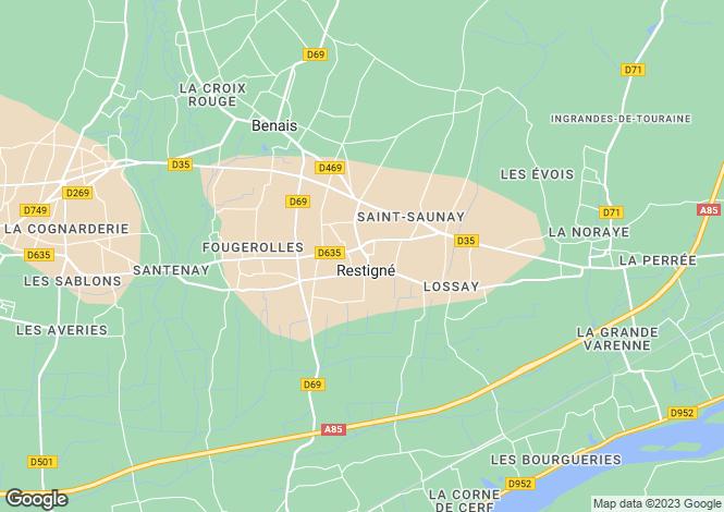 Map for RESTIGNE, 37140, France