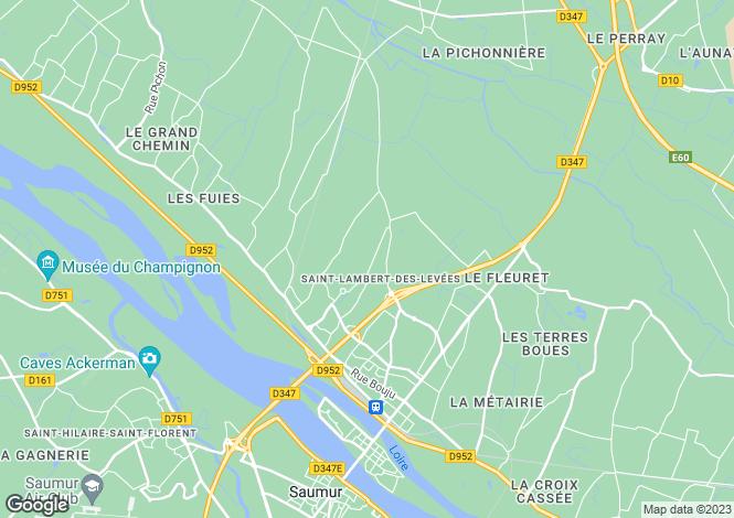 Map for Pays de la Loire, Maine-et-Loire, St-Lambert-des-Levées