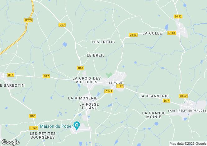 Map for le-fuilet, Maine-et-Loire, France