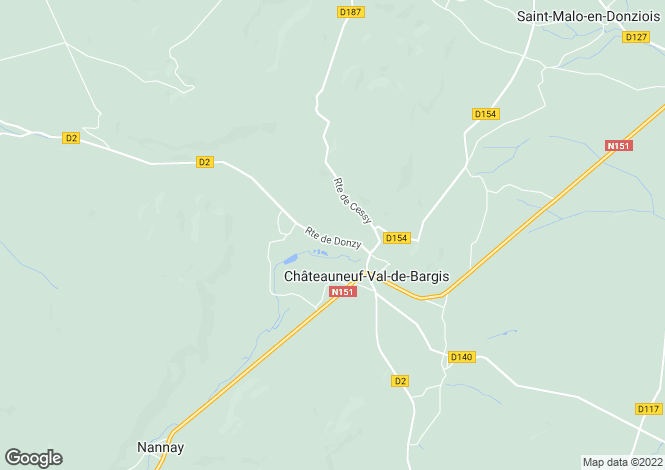 Map for CHATEAUNEUF VAL DE BARGIS, NIEVRE