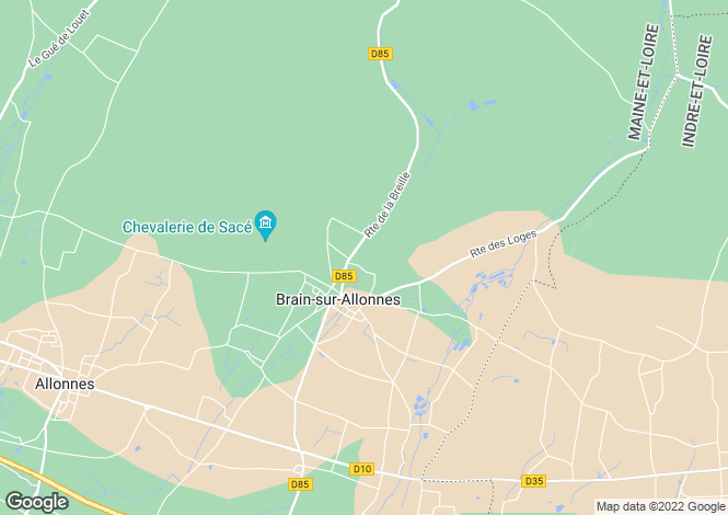 Map for BRAIN SUR ALLONNES, 49650, France