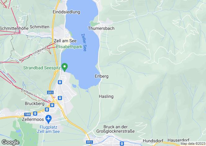 Map for Zell am See, Pinzgau, Salzburg