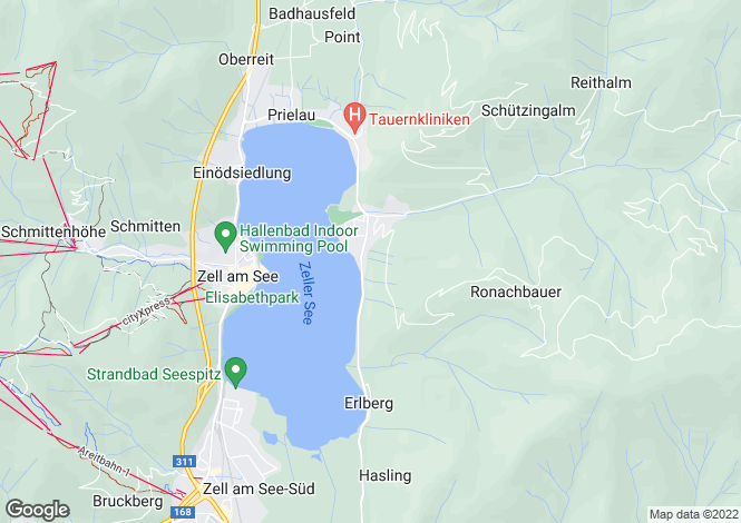 Map for Zell am See, Salzburg