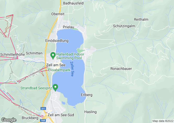 Map for 5700 Zell am See