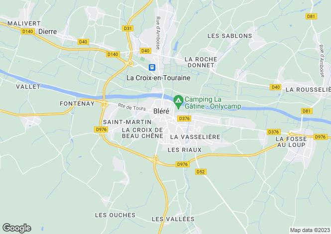 Map for Centre, Indre-et-Loire, Bléré