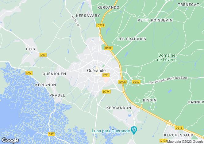 Map for guerande, Loire-Atlantique, France