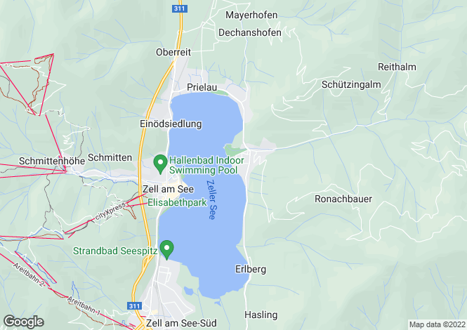 Map for Salzburg, Pinzgau, Zell am See