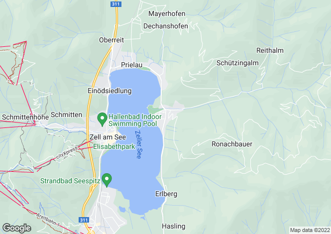 Map for Thumserbach, Near Zell Am See, Austria