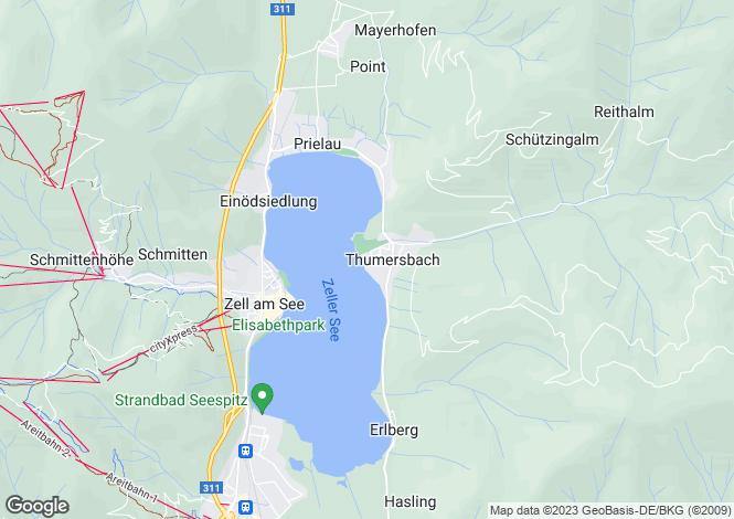 Map for Salzburg, Pinzgau, Zell am See