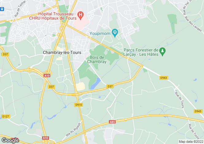 Map for chambray-les-tours, Indre-et-Loire, France