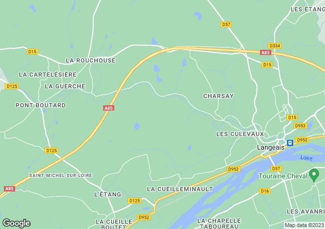Map for Restored Farmhouse & Guest House, Langeais, Touraine