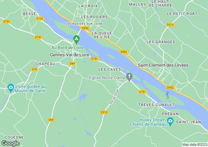 Map for Cunault, Maine-et-Loire, Pays de la Loire